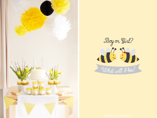 what will i bee baby party dreierlei liebelei. Black Bedroom Furniture Sets. Home Design Ideas