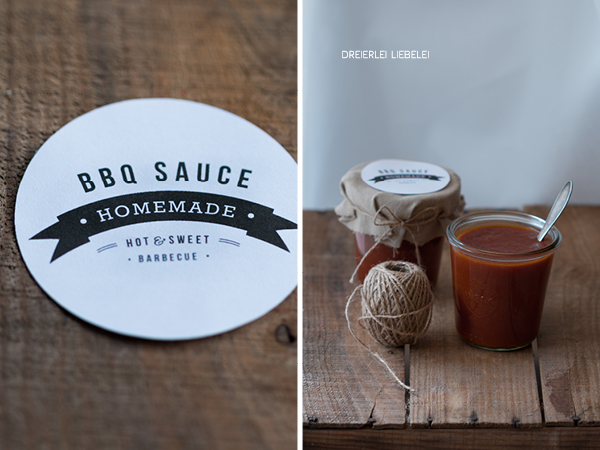 homemade bbq sauce etiketten freebie inkl thermomix variante dreierlei liebelei. Black Bedroom Furniture Sets. Home Design Ideas
