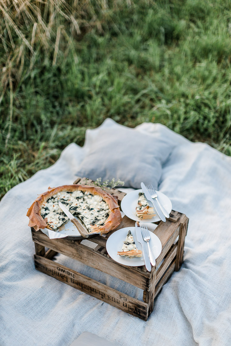 Spinat-Feta-Quiche